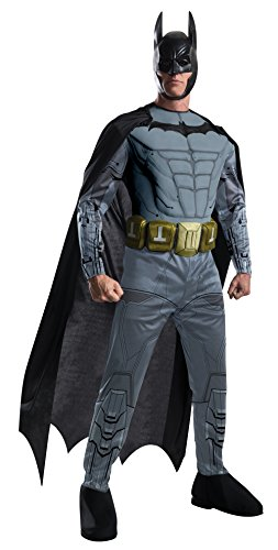 Arkham Knight Kostüm Robin - Batman Arkham Kostüm mit Muskeln Herren 4-TLG. schwarz grau - XL