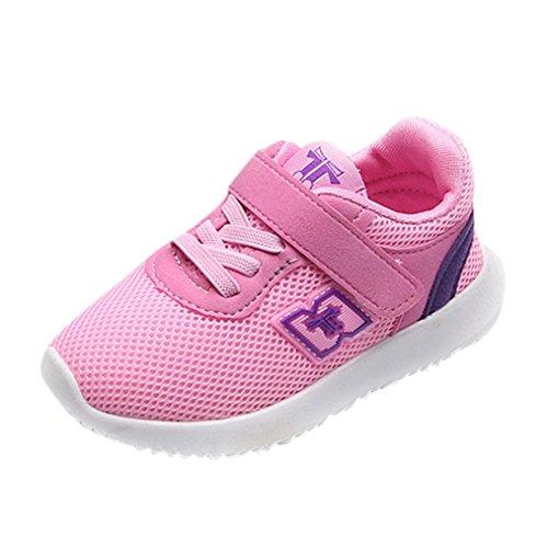 Igemy 1Paar Neu Mode Baby Lässige Sneakers Sportschuhe Outdoor Lauf Schuhe (21, Rosa)