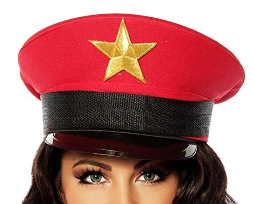 Offiziersmütze rot S-L ()