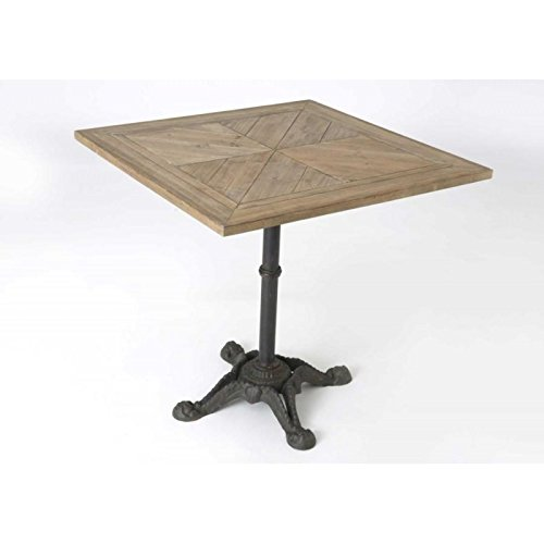 Table bistrot carré fonte