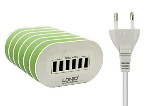 Ldnio Bluechip Travelline T8-E3 8 Pollice Tablet PC 2 Pin EU Parete 7 Amp 6 Porta USB Rapido Desktop Caricabatterie