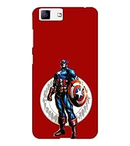 EPICCASE Captain America Mobile Back Case Cover For Vivo X5 (Designer Case)