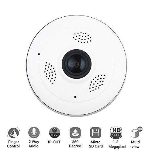 Meiteai Ip Kamera Wireless 360 Grad Weitwinkel Fisheye Kamera FüR Home Security 3D Vr Wifi 2,4 Ghz Outdoor Sicherheit Kamera Mit Ir-Nacht-Motion Keep Your Home Safe