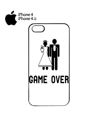 Game Over Wedding Joke Cool Funny Hipster Swag Mobile Phone Case Back Cover Hülle Weiß Schwarz for iPhone 5c White Schwarz