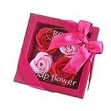 Ben-gi 4PCS / Box Brigth Farbe Rose Seifen-Blumen-romantische Hochzeit Geschenk-Kasten handgemachte...