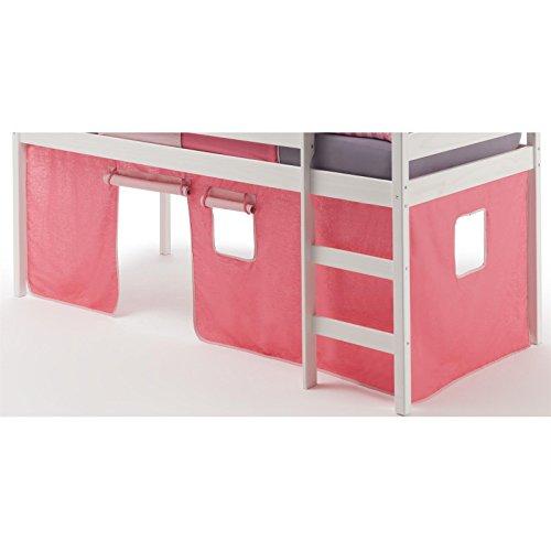 Vorhang Gardine Bettvorhang CLASSIC zu Hochbett Rutschbett Spielbett in pink/rosa