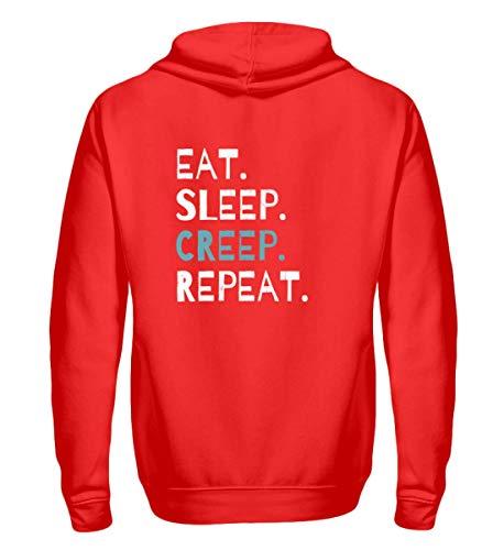 Eat Sleep Creep Repeat - An Halloween Das Wahre Gruselige schreckliche Ich Zeigen - Zip-Hoodie