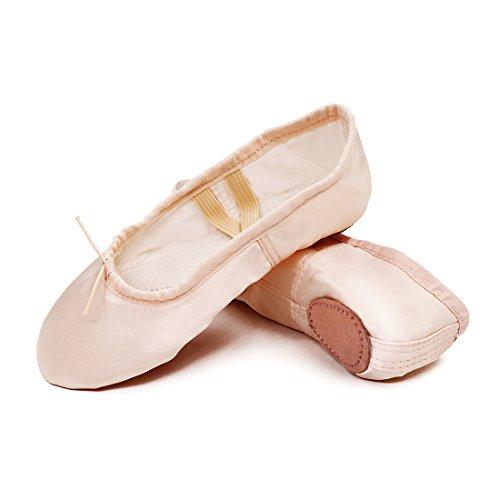 Ballettschuhe Mädchen Tanzschuhe ballettschläppchen Damen bequem Spitzenschuhe Kinder Rosa 29