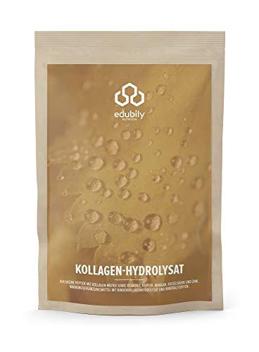 Kollagen Hydrolysat Pulver. Kollagen Pulver mit Zink, Mangan, Kupfer, Kieselsäure & natürlichen Vitamin C. Geschmacksneutral. In Deutschland hergestellt. 350 g