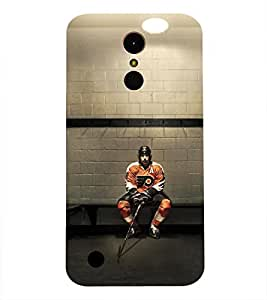 LG K10 2017 HOCEY PLAYERS PRINTED BACK CASE COVER by SHAIVYA
