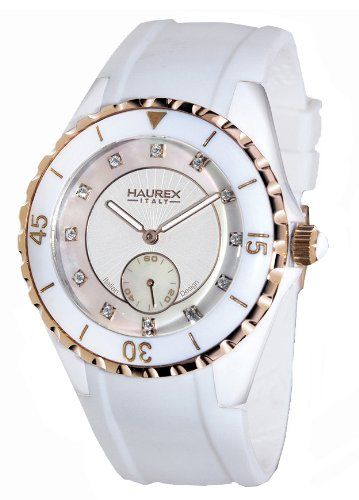 Haurex Italy 1W337DWH Womens Riviera Mother-of-Pearl Dial Watch