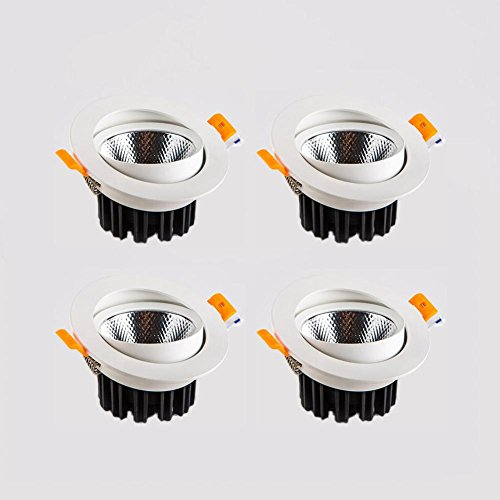 OOFAY LIGHT® Satz von 4 LED Einbauspot 12W Strahler Built-in Deckenbeleuchtung für Wohnzimmer Zimmer Küche Flur Downlight , natural white 4000K