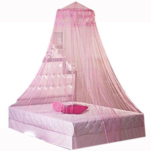 TOMATO-smile Romantische Spitze Bett Baldachin Frauen Mädchen Prinzessin Moskitonetze Indoor Netz Vorhang (Rosa) (Schwarz Canopy-netz Für Bett)