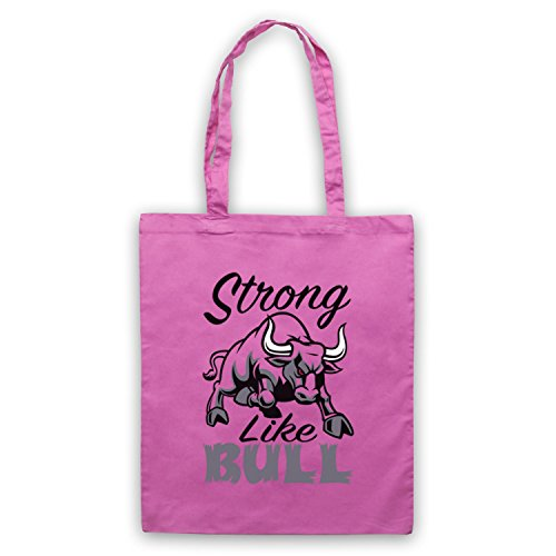 Strong Like Bull Gym Workout Slogan Umhangetaschen Rosa