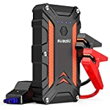SUAOKI Jump Starter 1000A Corrente di Picco 12000mAh Avviatore di Emergenza Auto per Motore Fino a 7L Benzina 5L Diesel 3 USB Uscite, Type-C/2 QC3.0 Carica Veloce, Pinza Intelligente, Torcia LED