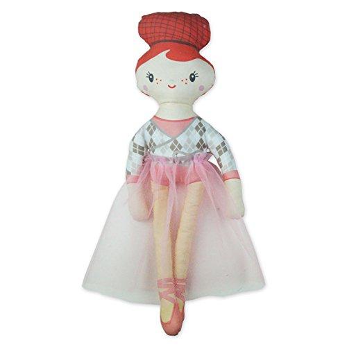 Kit à coudre poupée danseuse en tissu bio. Kit couture complet. Jeu de loisir créatif facile et original (Ginger)
