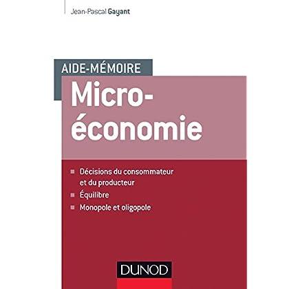 Aide-mémoire - Microéconomie