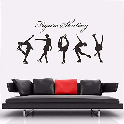 Abnehmbare Weibliche Mädchen Eiskunstlauf Wandmalereien Vinyl Wandtattoo Kunst Diy Schlafzimmer Aufkleber Haus Dekoration Finger Sport 56 * 110 Cm Zxfcczxf