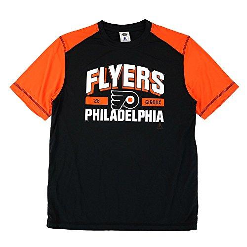 adidas Claude Giroux NHL Philadelphia Flyers Performance Player Graphic T-Shirt Herren, Herren, schwarz, Large (T-shirt Philadelphia Flyers Herren)