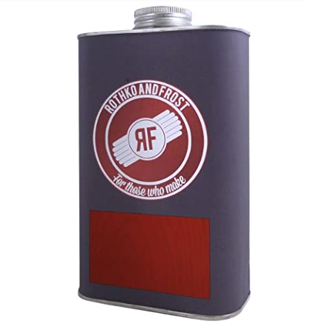 Dartfords getöntes Gitarre Nitrocellulose Lack (Bernstein, 1Liter Dose) 1 litre Tin Red (Heritage Cherry)