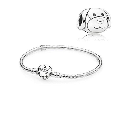 Original Pandora Geschenkset Starterset Charm 791707 Liebevoller Hund + Armband 590719-17