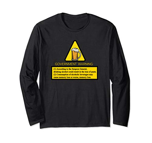 Kann Alkohol Warnung Enthalten Langarmshirt -