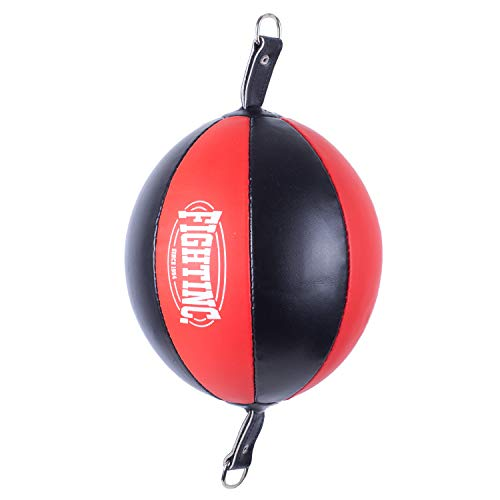 Fightinc. Doppelend Ball Pro - Punching Ball für Boxen Kickboxen Muay Thai MMA Kampfsport Training schwarz rot UVM