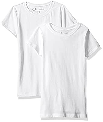 ca3cef27f28a2e Clementine Big Girls  Everyday T-Shirts Crew 2-Pack  Amazon.in ...