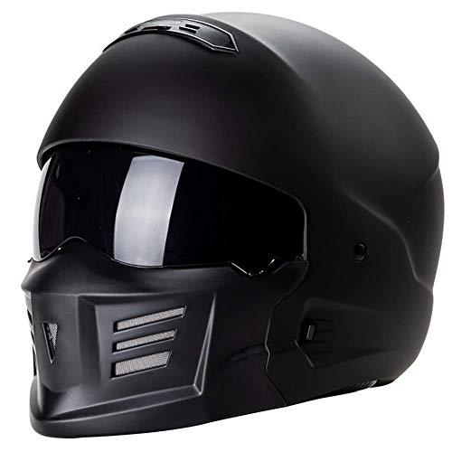 LALEO Personalidad Samurai Cascos Moto Half-Helmet