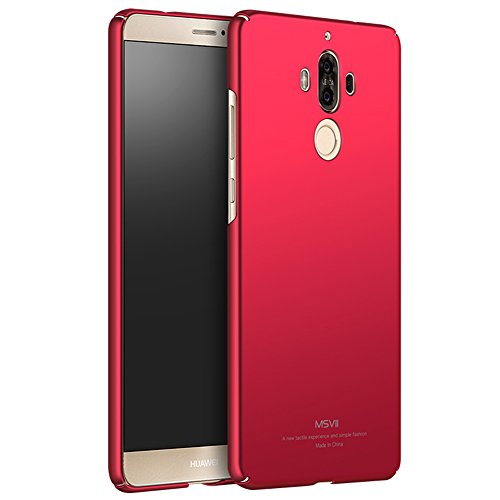 Coque Huawei Mate 9, MSVII® Très Mince Coque Etui Housse Case et Protecteur écran Pour Huawei Mate 9 - Noir JY00211 Rouge