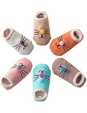 Estwell 6 Paare Baby Antirutsch Socken Säugling Baby Jungen Mädchen Rutschfest Socken Kleinkind Dicke Baumwolle...