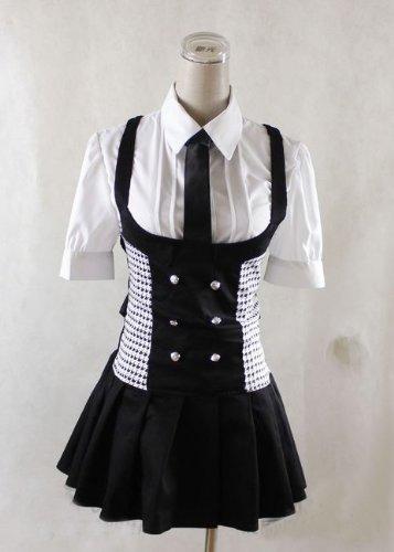 Boku SS Shirakiin Ririchiyo Karuta Roromiya Cosplay Kostüm zwei tie , Größe (Shirakiin Kostüm Ririchiyo)