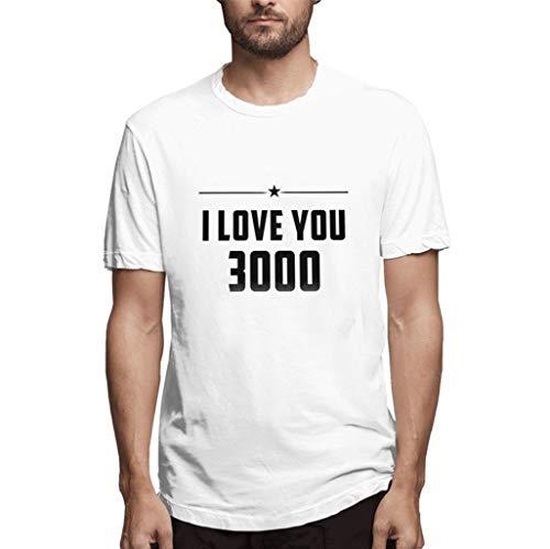Ich liebe dich drei tausend Mal Ironman TonyStark Danke Fan End Game Shirt Männer Druck T-Shirts T-Shirt Kurzarm Top Bluse -