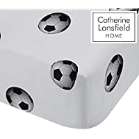 Catherine Lansfield Football Easy Care Single Fitted Sheet Multi