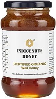 INDIGENOUS HONEY Raw Organic Honey Unprocessed Unfiltered Unpasteurized Pure Natural Original Honey - 530 Gram