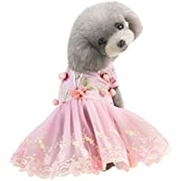 Hawkimin Pet Dog - Vestido de Princesa Transpirable con símbolo Musical, Color Rosa, tamaño Large