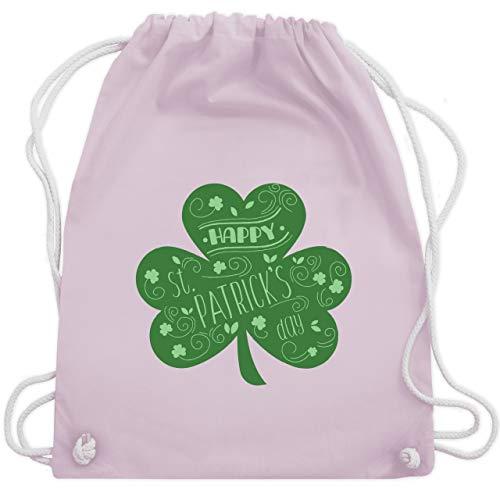 Bag Blatt Kostüm - St. Patricks Day - Happy St. Patricks Day Kleeblatt - Unisize - Pastell Rosa - WM110 - Turnbeutel & Gym Bag