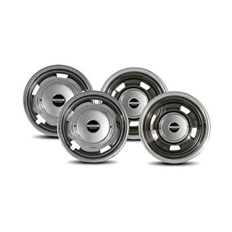 Pacific Dualies 44-1708 Polished 17 Inch 8 Lug Stainless Steel Wheel Simulator Kit for 2003-2017 Dodge Ram 3500 Truck by Pacific Dualies