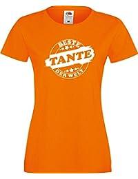 ShirtInStyle Lady T-Shirt Beste TANTE der Welt, StampStyle viele Farben, Größe XS-XXL