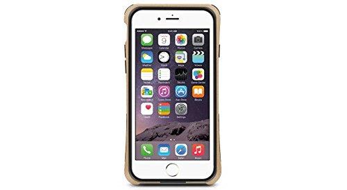 Macally-Struttura PC e TPU per Apple iPhone 6, colore: nero Champagne, Metallic