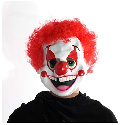 wanjuna Latex Cute Clown Maske Für Erwachsene Halloween Kostüm Party - Cute Clown Kostüm