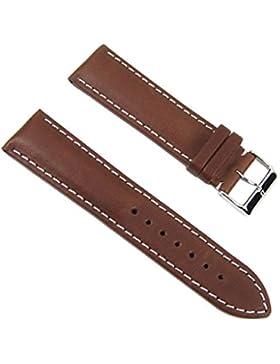 Barington Ersatzband Uhrenarmband Leder Rind-Rustica braun 22mm 803062227