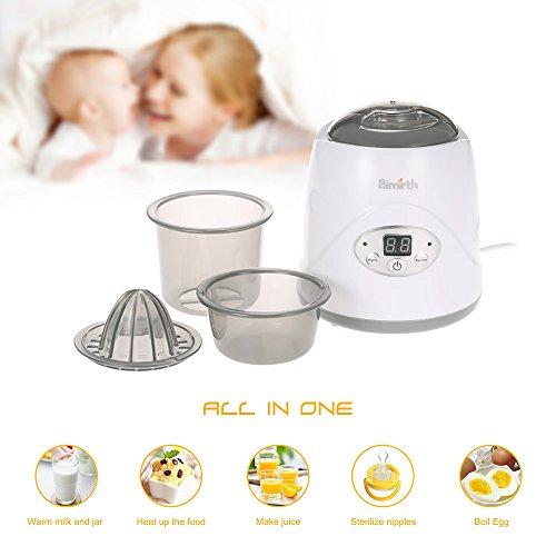 Anself bimirth Baby Chauffe-biberon Coffre-fort chauffage constant exempt de BPA Lait Réchauffeur portable