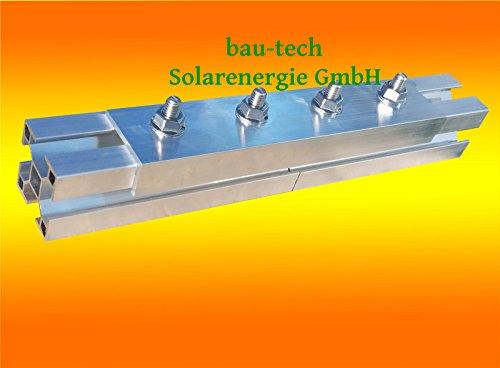10 Stück Profil Verbinder ALU Solar Photovoltaik PV Montage, Aluprofil von bau-tech Solarenergie GmbH