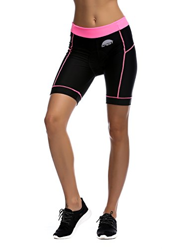 iCreat Women's Cycling Compression Shorts Running Pants Padded with Quick-Dry-Function S-XXL