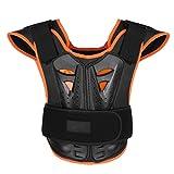 Agoky Kinder Brustschutz Motorradrüstungs Weste Motorrad REIT Brust Rüstung Rücken Schutz Körper Weste Schutz für Reiten Skating Roller Skifahren Schwarz M