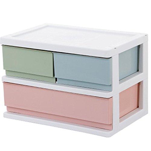 Büro Desktop Aufbewahrungskiste Mehrschicht Schublade Kunststoff Aufbewahrungskiste Finishing Schrank , b