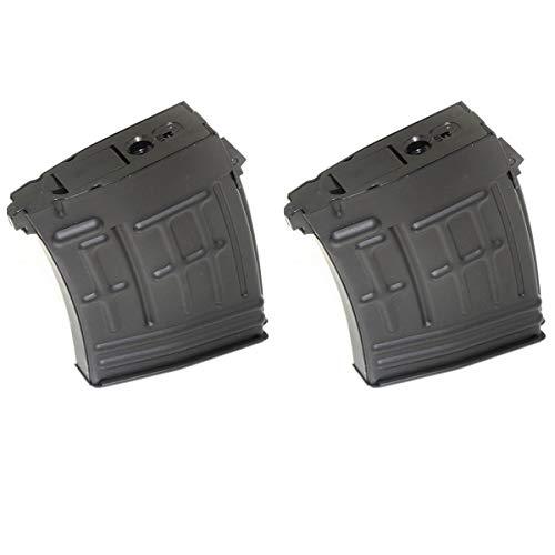 Airsoft Softair Ersatzteile CYMA 2pcs 120rd Mag Hi-Cap Magazin für S&T RS CYMA SVD Gewehr AEG