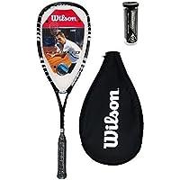 Wilson Hyper Hammer 120 PH Squash Racket + 3 Dunlop Squash Balls RRP £135