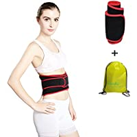 LAM4U Waist Trimmer Faja Reductora Deportiva de Neopreno Adjustable para Hombres y Mujeres, Respirable Cinturón